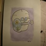 singing skull
